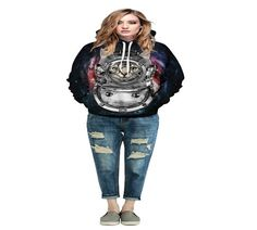 2017 New Casual Couples Hoodies With Hood 3d Printed Long Sleeve Sweatshirts Fashion Loose Plus Size Pullovers