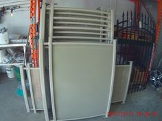 Check out the panels we powder coated Almond, looks great!