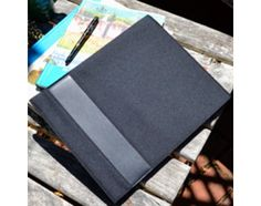 The OWL Padfolio is a beautiful accessory for 8.5 x11 paper pads. Made from 100% recycled PolyCanvas and 100% recycled leather.  OWL recycled paper pad refills are available.