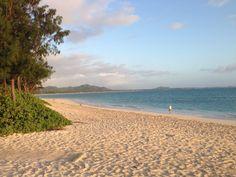 Kailua Beach on the windward side of Oahu - my favorite morning walk on the planet
