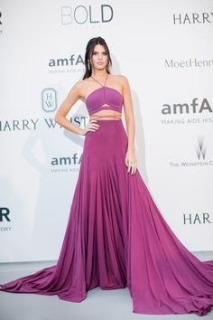 Kendalla Jenner in a pink dress