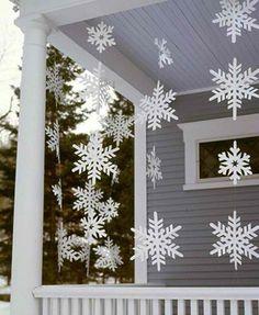 Paper snowflake hangings