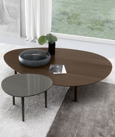 Jesse Chicago has modern furniture that's unique. A two level table is different.
