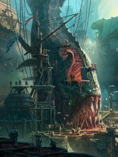 ArtStation - Bilgewater - Carving Bays, North Front