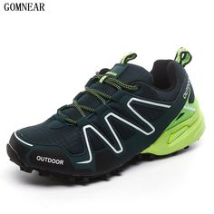 95.00$  Buy here - http://alixnh.worldwells.pw/go.php?t=32747123419 - GOMNEAR New Arrival Hiking Shoes Men Breathable Mesh Outdoor Tourism Trekking Sneakers Hunting Climbing Athletic Shoes For Male 95.00$
