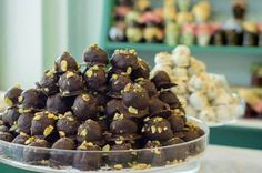 Fistikato in chocolate Chocolate Covered, Truffles, Herbs, Sweets, Candy, Island, Cookies, Breakfast, Desserts