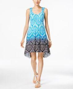 55c633f969f Sleeveless Printed Dress