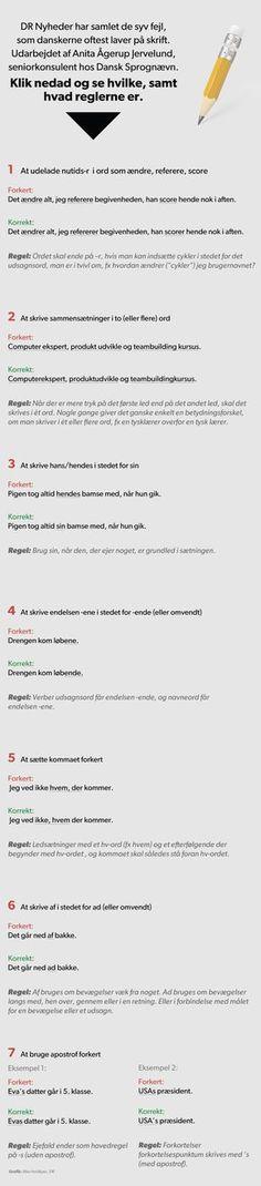 Danskernes dårlige skriftsprog: Her er de typiske fejl | Nyheder | DR