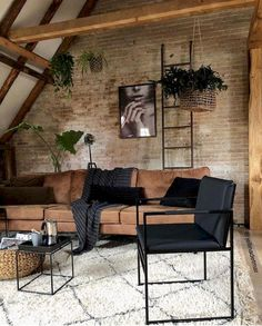 Home Design Living Room, Family Room Design, Living Room Decor, Home And Living, Modern Living, Cozy Living, Simple Living, Industrial Interior Design, Interior Styling