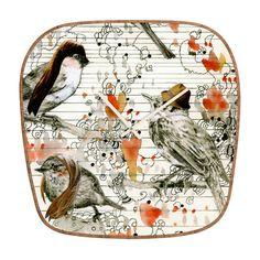 DENY Designs DENY Designs Randi Antonsen Love Birds Wall Clock