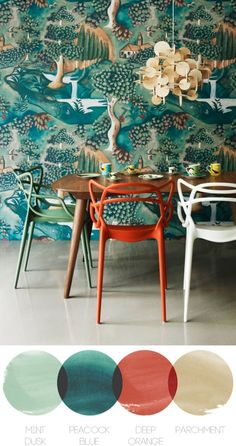 "Philippe Starck - The Masters Chair - inspired by the ""Series by Arne Jacobsen, the ""Tulip Armchair""by Eero Saarinen and the ""Eiffel Chair"" by Charles Eames, this design encaptures a part of each different style. Chaise Masters, Interior Inspiration, Design Inspiration, Interior Ideas, Turbulence Deco, The Design Files, Of Wallpaper, Zoffany Wallpaper, Beautiful Wallpaper"