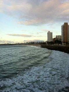Fim da Tarde na Praia de Iracema. End Afternoon on Iracema Beach, Ceará, Brazil.