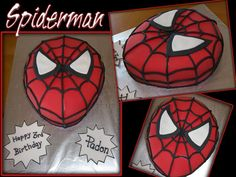 spiderman cake for s's birthday