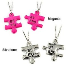 BFF necklaces.