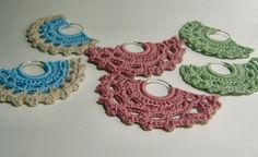 crochet earrings / pendientes de crochet