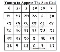 In this post, I have described the making of an Astrological Yantra, which is attributed with the powers of appeasing the Sun God or Surya Devta. Hindu Mantras, Astrology Numerology, Magic Book, Hindus, Durga, Magick, Horoscope, Blessings, Discovery