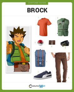 Dress like Brock from the popular TV show and video game, Pokemon. Get cosplay inspiration and more Brock costume ideas.