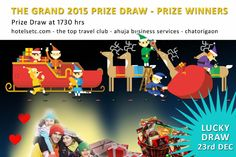 CONGRATULATIONS - WINNERS - THE 2015 GRAND PRIZE DRAW : Col. T. R. Agnihotri - Grand Prize Col. R.P. Mediratta - Regular Prize A big note of thanks to all the people who purchased lucky draw tickets. 10% Proceeds of the Draw are being donated to UAMPWT providing financial assistance towards cancer care. Hotelsetc.com - The Top Travel Club - Ahuja Business Services - Chatorigaon