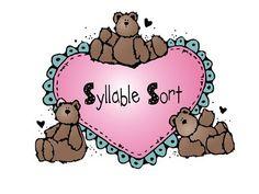 Valentine syllable sort, free!