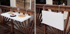 Folding balcony tray - smart!