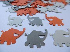 Elephant confetti smiling elephant cut out die cut by CuddleCute
