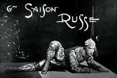 Nijinsky in a poster for the Ballets Russes promoting its sixth season.