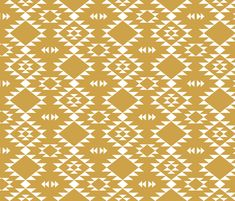 Navajo - Gold White fabric by kimsa on Spoonflower - custom fabric