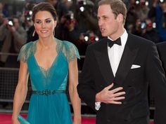 Kate & William - Jenny Packham Emerald Lace Gown Pre-Olympic Greatest Team Rises Dinner 11 May 2012