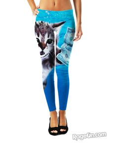Cat Cobain Leggings - Rage On! - The World's Largest All-Over Print Online Retailer