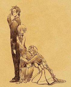 Claude Faustus, Alois Trancy, Luka Macken, and Hannah Anafeloz.