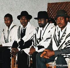 WANDERING JEWS: With traditions that echo Jewish ritual, these Nigerians seek official recognition as Jews. ?We want a rabbi to come here and elevate a Torah,? said Harim Chevron Levy (second from right).