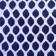Cotton fabric  Indian fabric  white and blue cotton by DesiFabrics, $4.00