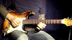 Bluesy guitar playing with a Fender Stratocaster