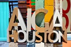 AIGA Houston, Cardboard sign at Various events and places.