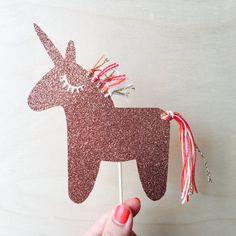 Image of Tassel unicorn cake topper