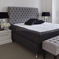 Classic Łóżko tapicerowane pikowane chesterfield szare, białe 140*200, 160*200, 180*200
