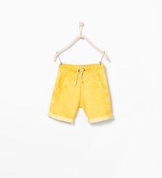 Image 1 of Faded drawstring shorts from Zara