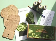 Flat Plants DIY paint by numbers kit
