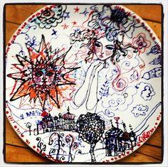 sasha decorated plate
