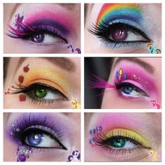 My Little Pony makeup! Awesome!