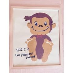 画像 Fun Crafts For Kids, Baby Crafts, Toddler Crafts, Art For Kids, Toddler Art Projects, Projects For Kids, Daddy Day, Footprint Crafts, Handprint Art