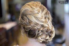 French braided side bun