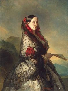 Grand Duchess Maria Nikolayevna, 1857 by  Franz Xaver Winterhalter