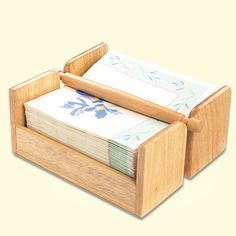 wood gifts | NAPKIN HOLDER WOOD at Taylor Gifts - $14.98