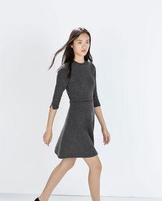 Image 4 of FLARED MINI DRESS from Zara