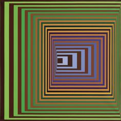 "spacecamp1:  ""Victor Vasarely, Vonal-Stri, 1975, Acrylic on canvas  """