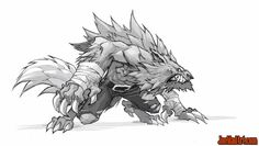 Battle-Chasers-game-early-concept-art-lycelot-madureira-pencil-m.jpg (1120×634)