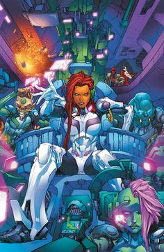 Starfire. The only badass picture I could find of her where she was actually dressed.