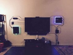 If you can't hide the wires, make them part of the decore - 9GAG