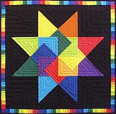 Photo of Rainbow Card Trick.  What a beautiful star pattern, so colorful.
